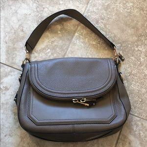 Aldo brown leather zip flap shoulder bag